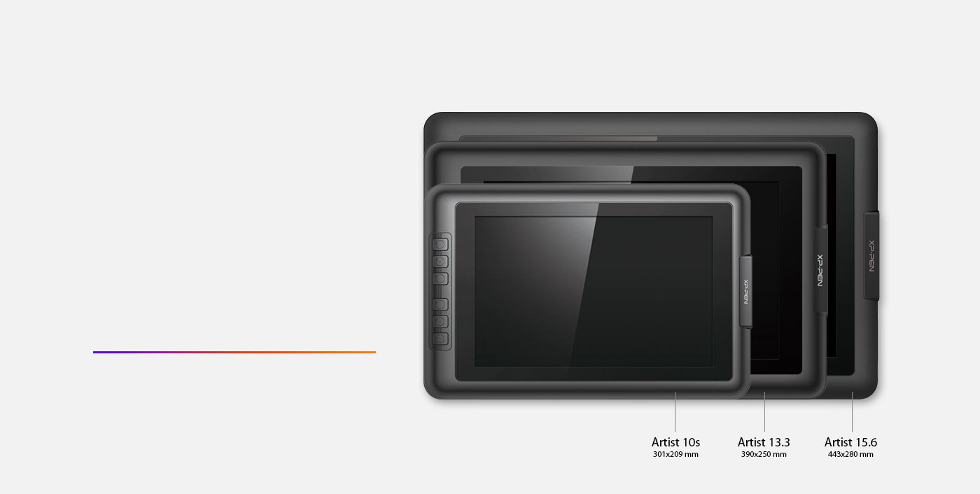 Artist 15.6 drawing tablet come with A new 15.6 inch display