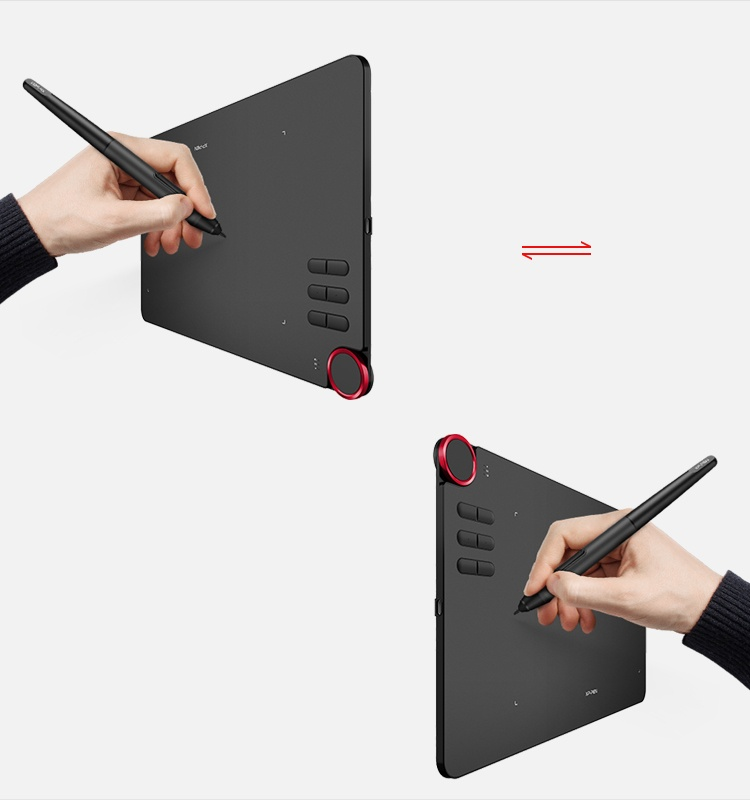 Deco 03 graphics pad Design for Both right and left hand use